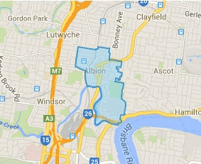 Suburb boundary of Albion